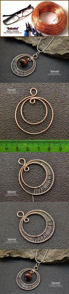 DIY Bijoux  Wire Wrap Pendant