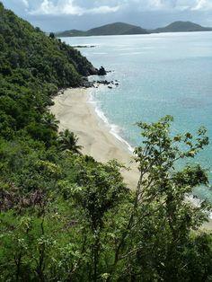 Mountain Trunk Beach, a short walk from Sunset Watch Villa, Virgin Gorda, BVIs.  www.sunsetwatchvilla.com