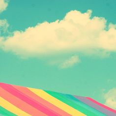 have a good day - rainbow tent Fine-Art Carnival Print  8x8 by stoopidgerl, $25.00
