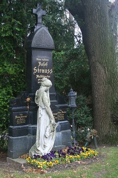 Josef Strauss, Austrian composer.. His cause of death was not determined as his widow forbade an autopsy. Originally buried in the St. Marx cemetery, Strauss was later exhumed and reburied in the Vienna Central Cemetery, alongside his mother Anna.