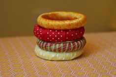Upcyled Napkin Rings Tutorial from curtain rings