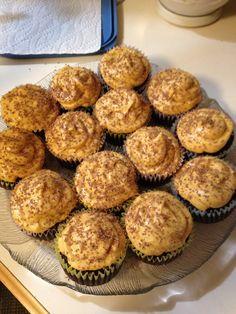 Chocolate & Pumpkin Frosting Gluten Free Cupcakes - Thanksgiving