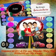 Recursos Photoshop Llanpac: Calendario para el 2015 de Cars para Photoshop (Ps...