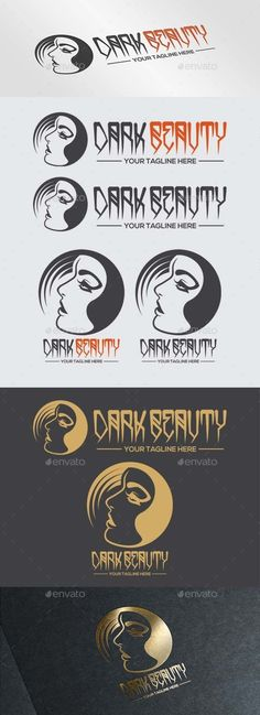 Dark Beauty Logo — Vector EPS #circle #brand • Available here → https://graphicriver.net/item/dark-beauty-logo/9791984?ref=pxcr