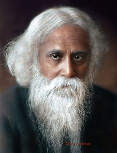 Rabindranath Tagore was a great son of India. He was a great patriot and poet. His father's name was Devindranath Tagore. Rabindranath Tagore, Old Man Portrait, Portrait Art, Portraits, Social Reformers Of India, Tolkien, Indian Freedom Fighters, Cute Little Baby Girl, Colorized Photos