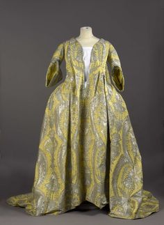 "This rare 1700s robe volante, or ""flying dress,"" was recently purchased by Palais Galliera, a fashion museum in Paris."