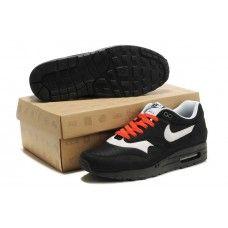b8f56f1f9b2 Hommes Nike Air Max 87 Noir Blanc Orange69