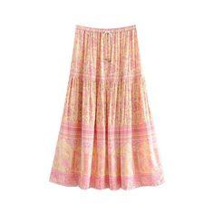 Boho Chic Summer Vintage Floral Print Patchwork Skirt Women 2019 Fashion A Line Drawstring Pleated Beach Skirt Faldas Mujer Bohemian Skirt, Boho Skirts, Boho Dress, Boho Chic, Black Leather Skirts, Faux Leather Skirt, Floral Print Skirt, Floral Prints, Vintage Chic Fashion