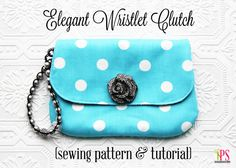 Elegant Wristlet Clutch Bag - Free Sewing Pattern and Tutorial - by Positively Splendid
