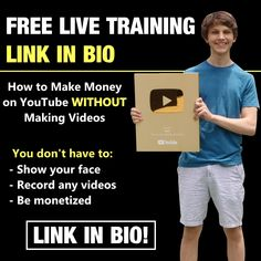 Earn Money Off Youtube Free Webinar Make Easy Money, Make Money Online, Online Marketing, Digital Marketing, Marketing Tools, Affiliate Marketing, Start Youtube Channel, Best Instagram Posts, The Success Club