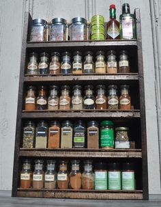 Spice Rack With Distressed Wood Finish and by TheGreenCoyote