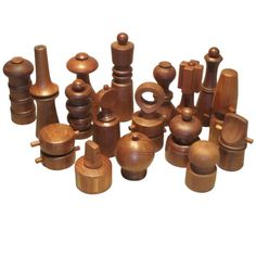 A Large Collection of Teak Pepper Mills by Jens Quistgaard | From a unique collection of antique and modern tableware at http://www.1stdibs.com/furniture/dining-entertaining/tableware/