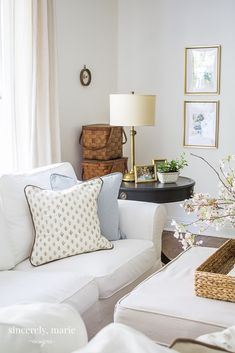 Fresh & Classic Spring Home Tour - Sincerely, Marie Designs Coffee Table Decor Living Room, Living Room Decor, Living Rooms, Living Spaces, Spring Home, Living Room Modern, House Tours, Home Furniture, Family Room