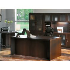 Mayline Aberdeen 60-inch Straight Front Desk Shell | Overstock.com Shopping - The Best Deals on Executive Desks
