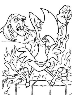 The Magic Sword: Quest for Camelot Coloring pages for kids. Printable. Online Coloring. 10