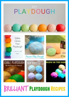 Check out this list of brilliant playdough recipes. Frozen inspired, essential oil, using conditioner for super soft playdough, Jello playdough, no cook. Frozen Playdough, Cooked Playdough, Homemade Playdough, Craft Activities For Kids, Infant Activities, Diy Crafts For Kids, Nanny Activities, Sensory Activities, Sensory Play