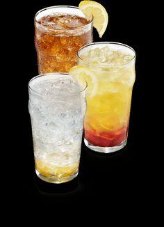 tropical Island Twist: a blend of lemonade, lemon lime soda and tropical man.... say no more you had me at mango!