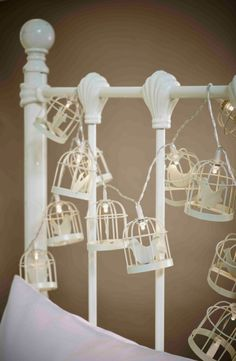 These quirky, vintage-inspired birdcage string lights can be used as both lighting and decoration around the home. They'll add a warm and cosy glow for when you just want to relax with a good book or watch a film. Perfect as a finishing touch for a bedroom or living room - why not hang them around a mirror or headboard? @katymilburn