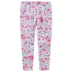 Girls 4-12 OshKosh B'gosh® Floral Leggings, Size: 6X, Ovrfl Oth