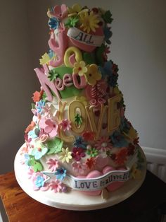 Image detail for -bright cake? This fabulous pastel wedding cake was made by Cakes ...