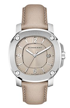 Burberry The Britain Leather Strap Watch available at #Nordstrom