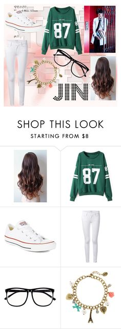 """Jin ideal type"" by shinee-panda ❤ liked on Polyvore featuring Converse, Frame Denim, H&M and claire's"
