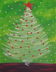 Christmas Tree....wonder if this would work with white crayon resist??? Going to try tomorrow:)