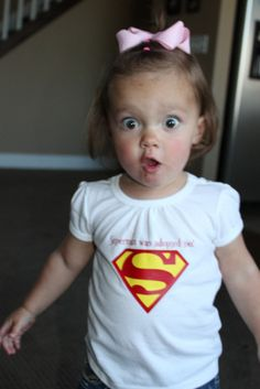 "If I ever adopt a baby, she's getting this! ""Superman was adopted too!"" <3"