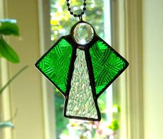 Stained glass Car Angel suncatcher