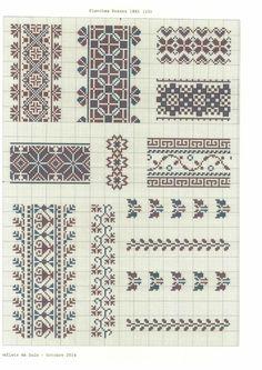 Вышивка. Обсуждение на LiveInternet - Российский Сервис Онлайн-Дневников Blackwork Embroidery, Diy Embroidery, Cross Stitch Embroidery, Embroidery Patterns, Cross Stitch Borders, Cross Stitch Designs, Cross Stitching, Cross Stitch Patterns, Palestinian Embroidery