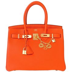 64c401b5523f  Hermes Birkin  Bag Feu Orange Togo Gold Hardware Hermes Kelly Bag