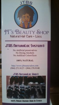 JTBS Inc. 6133 Powers Ave Jax, FL 32217 (904) 271-9127 www.jtbeautysalon.com  Fall KickOff... Now thru Oct. 2nd 11:59 pm Only!!!  Share this #Flyer on your FB Timeline to WIN a ... FREE #Specialty #LocStyle, FREE #LocJewelry, FREE #JTBS #T-Shirt, FREE 8 Oz #LocProduct, FREE 1 Hr. #Apprenticeship Session with #MzJT.  EVERYONE that #Share this Post Get a #SAMPLE JTBS Signature Natural Product! (Winners will be announced online by Fri. 11:59 AM.  Take 15% Off JTBS NaturaLoc System® ($99 Value)…