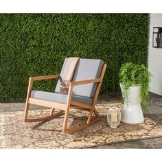 Shop for Safavieh Outdoor Living Vernon Brown/ Tan Rocking Chair. Get free delivery at Overstock.com - Your Online Garden