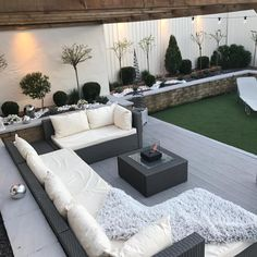 Back Garden Design, Modern Garden Design, Contemporary Garden, Small Back Garden Ideas, Backyard Seating, Backyard Patio Designs, Modern Backyard, Small Backyard Gardens, Back Garden Landscaping