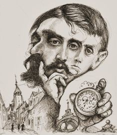 Three Faces of Proust Left to right, 20 November circa circa Proust For Beginners, cover art (B&W ink version) c. 2016 by Van Howell. Marcel Proust, Caricatures, Satire, Raymond Chandler, Van Gogh, Les Oeuvres, Cover Art, Book Reviews, Portraits