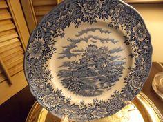 Vintage Blue Transfer Ware Colonial by VintageCreativeAccen, $9.00