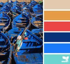 Boat brights color palette. Love!
