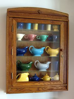 vintage Fiestaware: Cabinet for my Fiesta would be perfect if the cabinet was painted white or turquoise