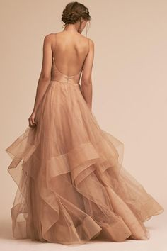 Gold Chantelle Dress | BHLDN