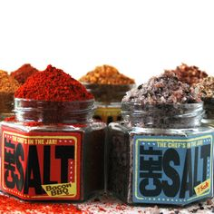 Colorful blended salts. I want to paint a dish with them!