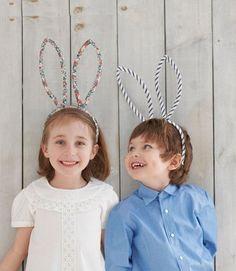 Orecchie da coniglio per i lavoretti di Pasqua dei bambini
