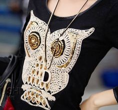 HOT!!! Lady's Owl Print Shirt Get yours before they're gone!!!