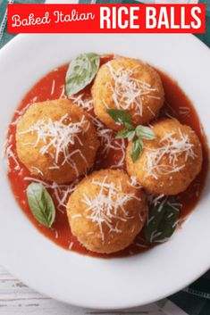 Check out this traditional and easy recipe for baked Italian rice balls.