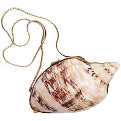 Pre-owned Judith Leiber Sea Shell Minaudiere ca.1970 ($3,600) ❤ liked on Polyvore featuring bags, handbags, clutches, purses, fillers, necklaces, evening bags and minaudières, handbags and purses, vintage purse and judith leiber handbag