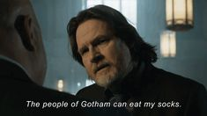 Gotham, Harvey Bullock, eat my socks Gotham Series, Gotham Tv, Gotham Girls, Gotham Batman, Batman Robin, Tv Series, Batman Comic Art, Batman Comics, Comic Book Heroes