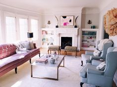 New rug in living room pretty much done! by juliahengel Living Room Interior, Rugs In Living Room, Home And Living, Living Room Designs, Living Spaces, Living Area, Inside A House, Family Room Decorating, Beautiful Living Rooms