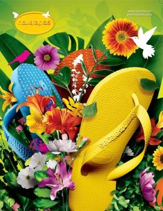 flip flops and flowers...