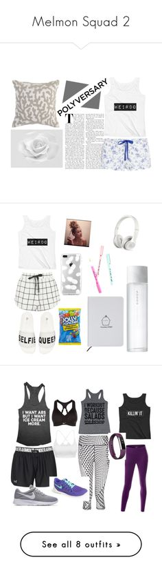 """""""Melmon Squad 2"""" by mizziexoxoboutique ❤ liked on Polyvore featuring Pier 1 Imports, Heidi Klum Intimates, Topshop, Lust For Life, SUQQU, ban.do, Beats by Dr. Dre, Hard Candy, Sweaty Betty and Under Armour"""
