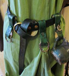 Medieval Ladies Belt, Skirt Chaser, and Mug Frog Flower Set, Plus Size. $100.00, via Etsy.