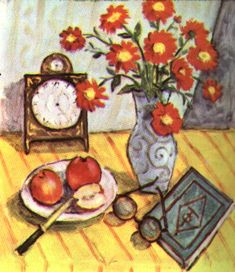 Still Life with Red Flowers - Theodor Pallady Post Impressionism, Impressionist Art, Fall Scents, Fauvism, Art Database, Still Life Art, Henri Matisse, Red Flowers, Be Still